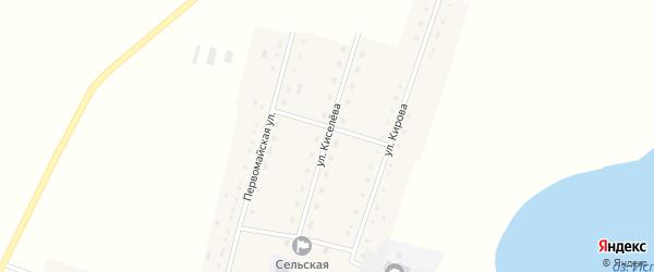 Улица Киселева на карте села Истимиса с номерами домов
