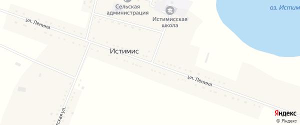 Улица Ленина на карте села Истимиса с номерами домов