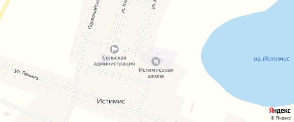 Улица Кирова на карте села Истимиса с номерами домов
