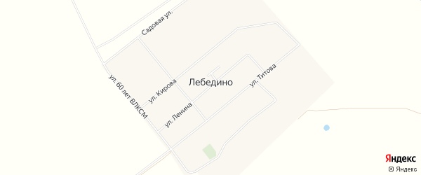 Карта села Лебедино в Алтайском крае с улицами и номерами домов
