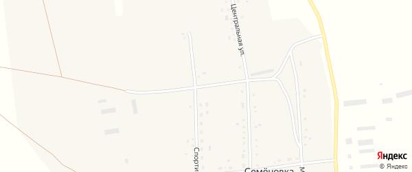 Комсомольский переулок на карте села Семеновки с номерами домов