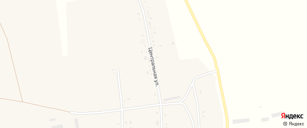 Центральная улица на карте села Семеновки с номерами домов
