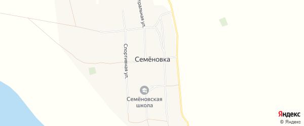Карта села Семеновки в Алтайском крае с улицами и номерами домов