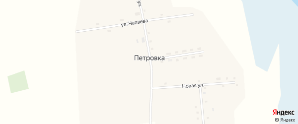 Новая улица на карте села Петровки с номерами домов