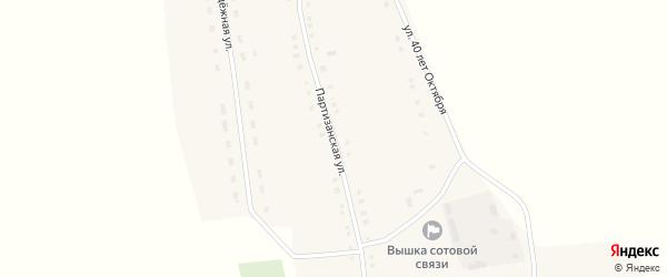 Партизанская улица на карте села Новополтавы с номерами домов