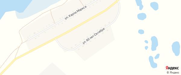 Улица 60 лет Октября на карте села Новополтавы с номерами домов