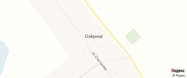Улица Сластунова на карте Озерного села с номерами домов
