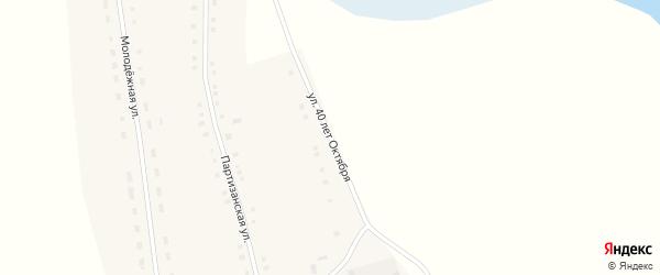 Улица 40 лет Октября на карте села Новополтавы с номерами домов