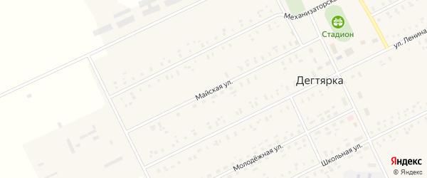 Майская улица на карте села Дегтярки с номерами домов