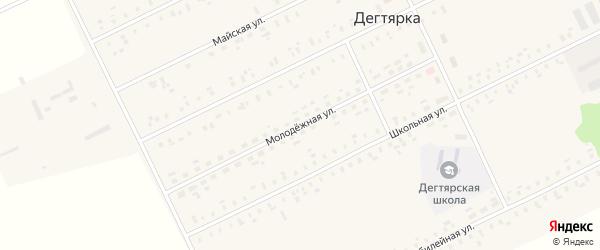 Молодежная улица на карте села Дегтярки с номерами домов