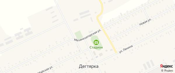 Механизаторская улица на карте села Дегтярки с номерами домов