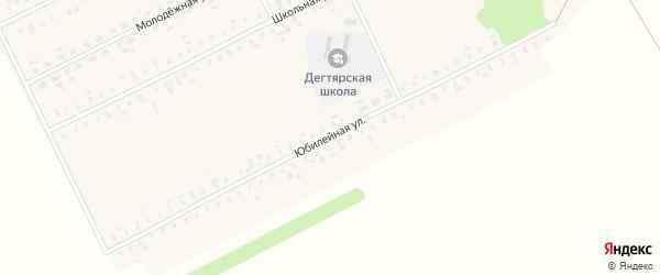 Юбилейная улица на карте села Дегтярки с номерами домов