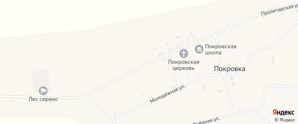 Пролетарская улица на карте села Покровки с номерами домов