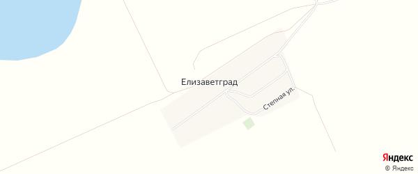 Карта села Елизаветграда в Алтайском крае с улицами и номерами домов