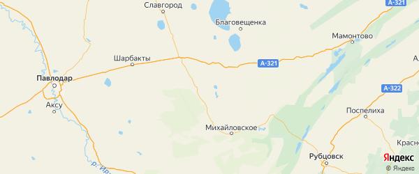 Карта Ключевского района Алтайского края с городами и населенными пунктами
