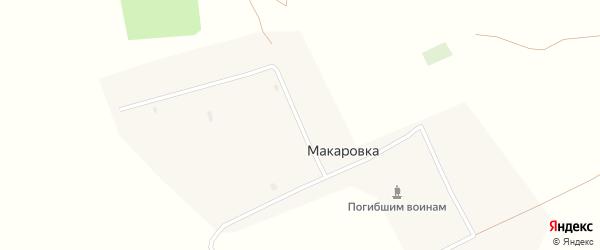 Центральная улица на карте села Макаровки с номерами домов