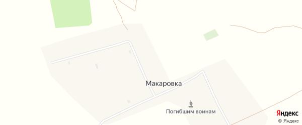 Зеленая улица на карте села Макаровки с номерами домов