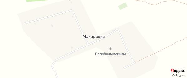 Южная улица на карте села Макаровки с номерами домов
