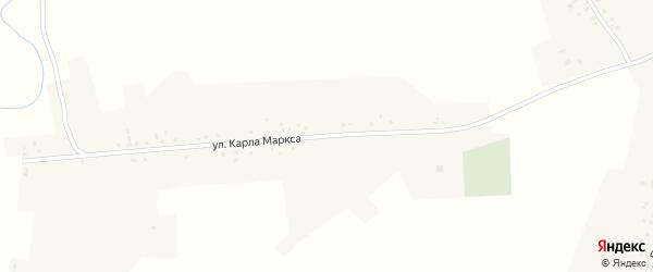 Улица К.Маркса на карте села Утянки с номерами домов