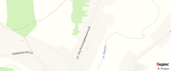 Улица З.Космодемьянской на карте села Утянки с номерами домов