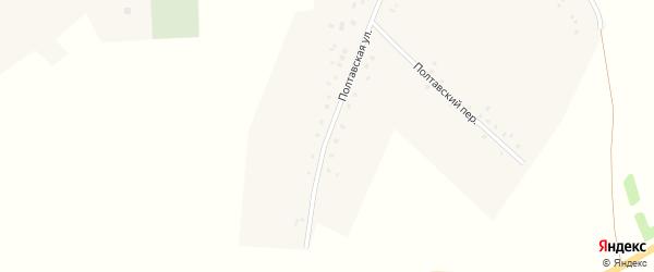Полтавская улица на карте села Утянки с номерами домов