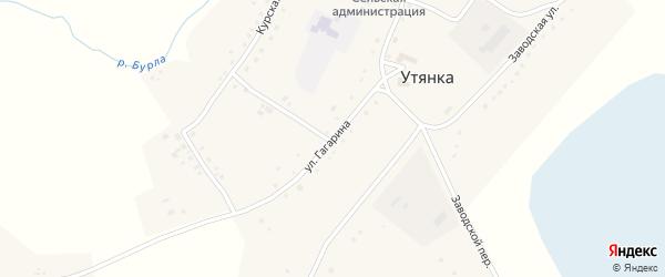 Улица Гагарина на карте села Утянки с номерами домов