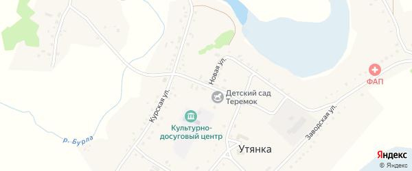 Новая улица на карте села Утянки с номерами домов