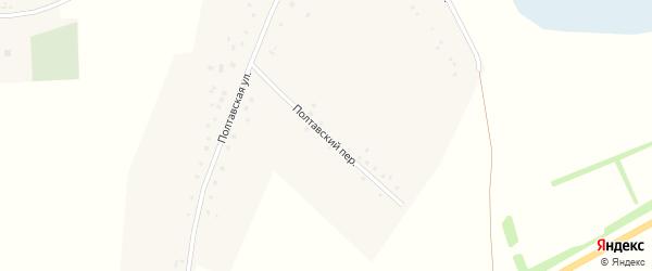 Полтавский переулок на карте села Утянки с номерами домов