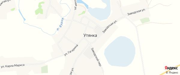 Карта села Утянки в Алтайском крае с улицами и номерами домов