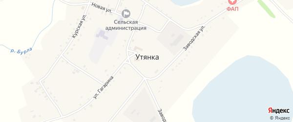 Улица АЗС на карте села Утянки с номерами домов