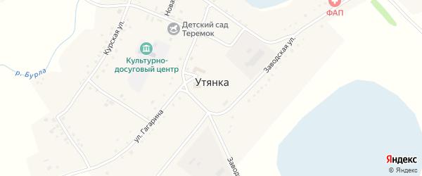 Улица Калинина на карте села Утянки с номерами домов