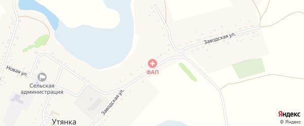 Заводская улица на карте села Утянки с номерами домов