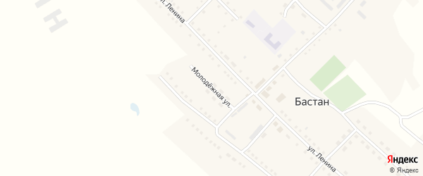 Молодежная улица на карте села Бастана с номерами домов