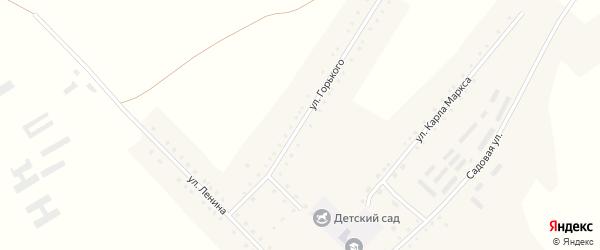 Улица Горького на карте села Бастана с номерами домов