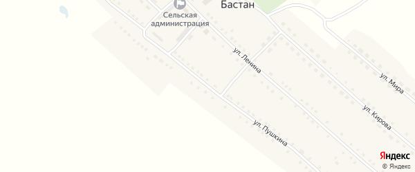 Улица Пушкина на карте села Бастана с номерами домов