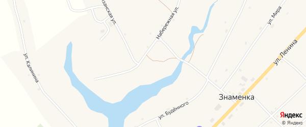 Больничный переулок на карте села Знаменки с номерами домов