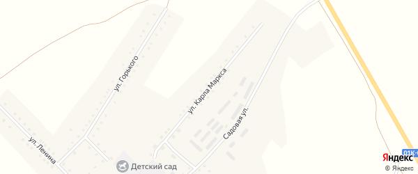 Улица К.Маркса на карте села Бастана с номерами домов