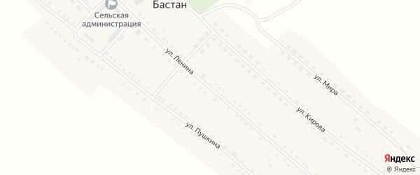 Улица Ленина на карте села Бастана с номерами домов