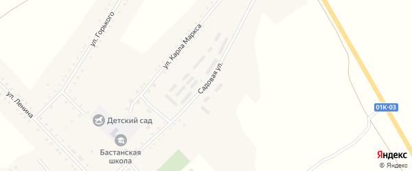 Садовая улица на карте села Бастана с номерами домов