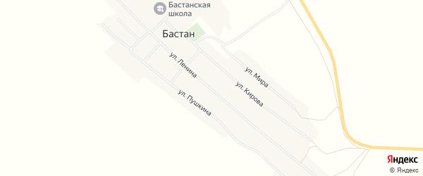 Карта села Бастана в Алтайском крае с улицами и номерами домов