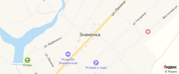 Кузнечный переулок на карте села Знаменки с номерами домов