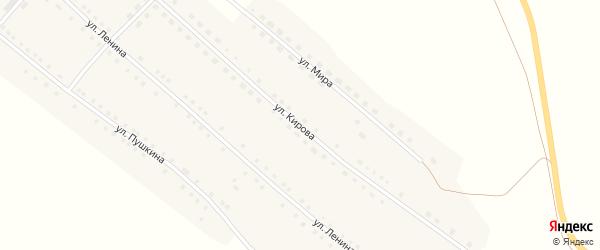 Улица Кирова на карте села Бастана с номерами домов
