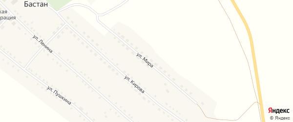 Улица Мира на карте села Бастана с номерами домов