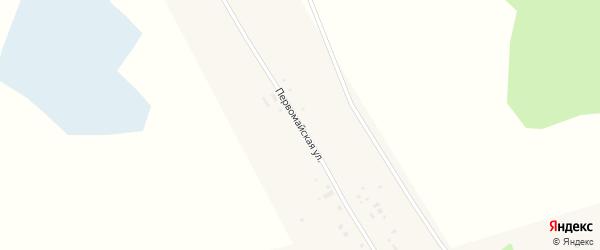 Первомайская улица на карте села Мартовки с номерами домов