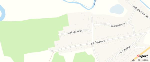 Звездная улица на карте села Хабаров с номерами домов