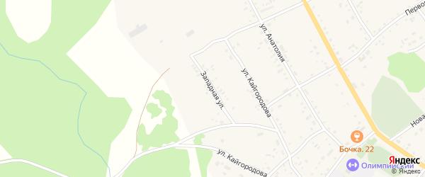 Западная улица на карте села Хабаров с номерами домов