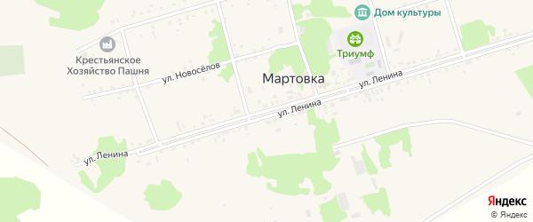 Улица Ленина на карте села Мартовки с номерами домов