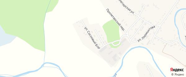 Улица Сосновый бор на карте села Хабаров с номерами домов