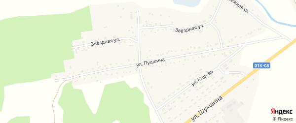 Улица Пушкина на карте села Хабаров с номерами домов