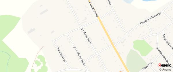 Улица Анатолия на карте села Хабаров с номерами домов